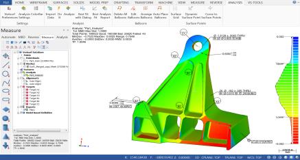 Verisurf CMM ölçüm yazılımı ekran alıntısı